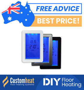 Touchscreen-thermostat-controller-under-floor-heating-Heated-Towel-Rail-Rack