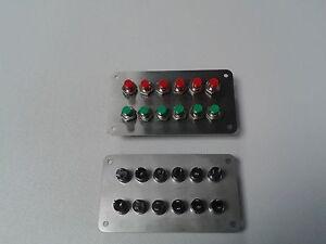Schalterpanel 12x Taster (Weichentaster) Edelstahlblende matt NEU sehr klein
