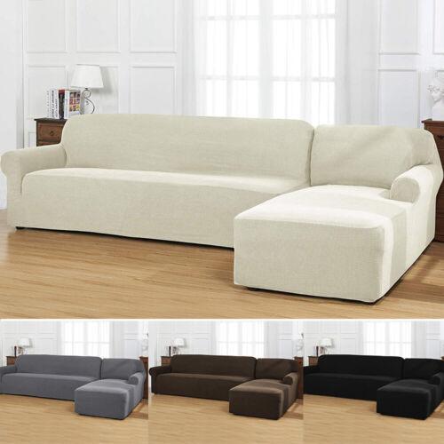 2pcs L Shape Sofa Covers Polyester