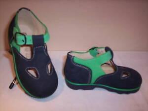 Scarpe-scarpine-sandali-Puppy-neonato-bimbo-shoes-primi-passi-pelle-blu-n-19-20
