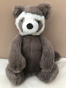 Jellycat-Medium-Bashful-Raccoon-Comforter-Baby-Soft-Toy-Retired-Rare-Lemur
