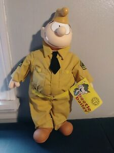 VINTAGE-BEETLE-BAILEY-SARGE-Stuffed-Doll-New-with-the-Original-1996-dated-Tag