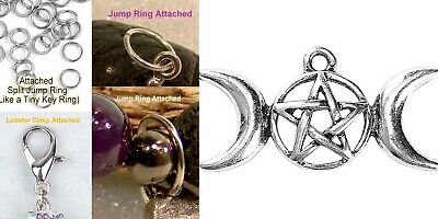 Moon and Goddess Clip on Pendant for European Charm Jewelry w// Lobster Clasp