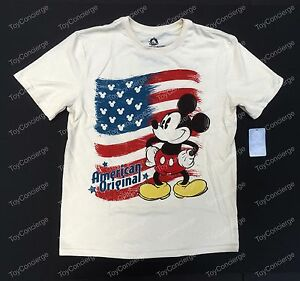 36e95a741 DISNEY Store TEE for Men MICKEY Mouse AMERICAN Flag JULY T Shirt ...