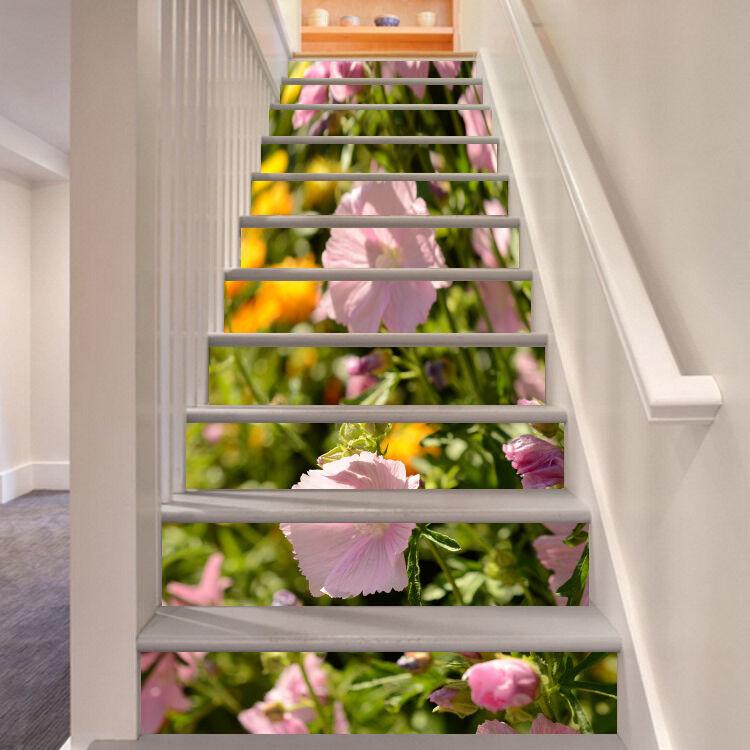 3D Tulpe blueme 551 Stair Risers Dekoration Fototapete Vinyl Aufkleber Tapete DE