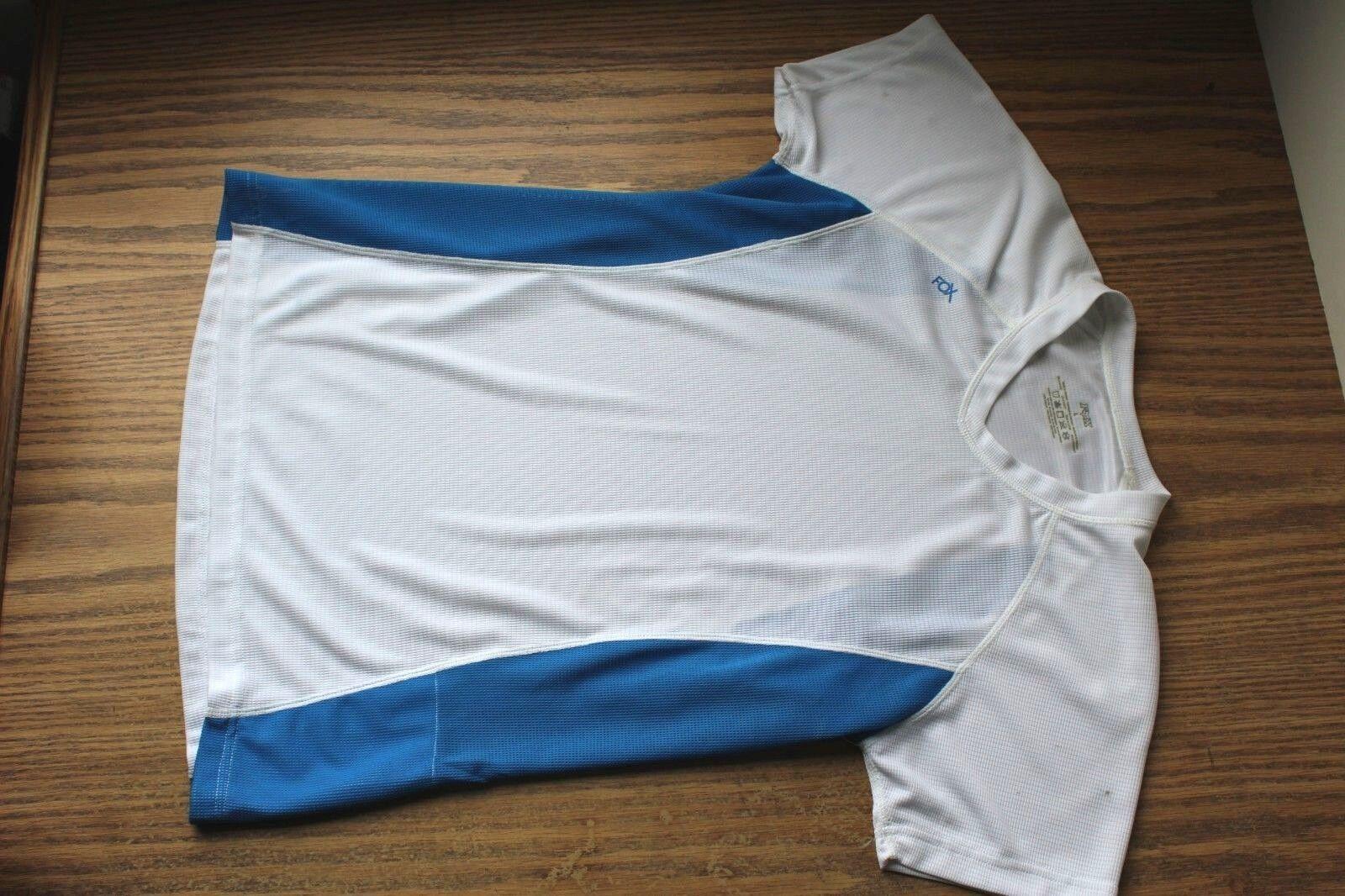 S Women's Fox Gaia Short Sleeve Jersey Small White bluee New NWT