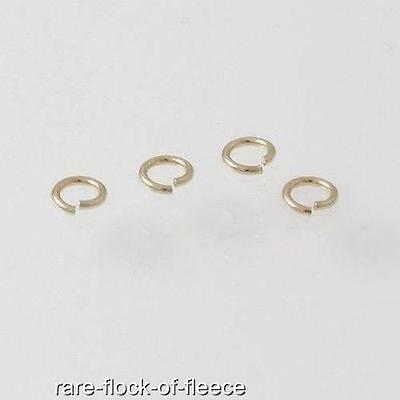9ct Yellow Gold 3mm Diameter Open Jump Ring Jewellery Making