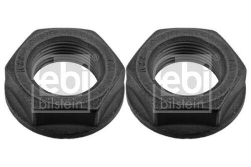 2x Hub Nut Front//Right//Left for CITROEN C3 1.4 1.6 05-on PICASSO HDI Febi