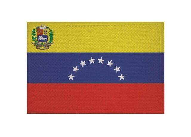 Aufnäher Venezuela Fahne Flagge Aufbügler Patch 9 x 6 cm