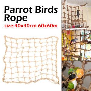 Bird Supplies Parrot Swing Ladder Toys Rope Net With Buckles Pet Bird Bites Climb Chew Toys Parrot Cage Bird Toys Good Taste