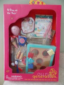"Battat Our Generation 18"" Doll A Day at the Fair Beanbag Toss Food Egg Race NIB"