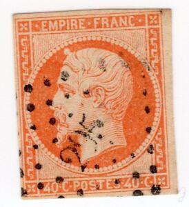 empire-yt-n-16-variete-timbre-poste-non-dentele-rare-stamp-variety-signe-CALVES