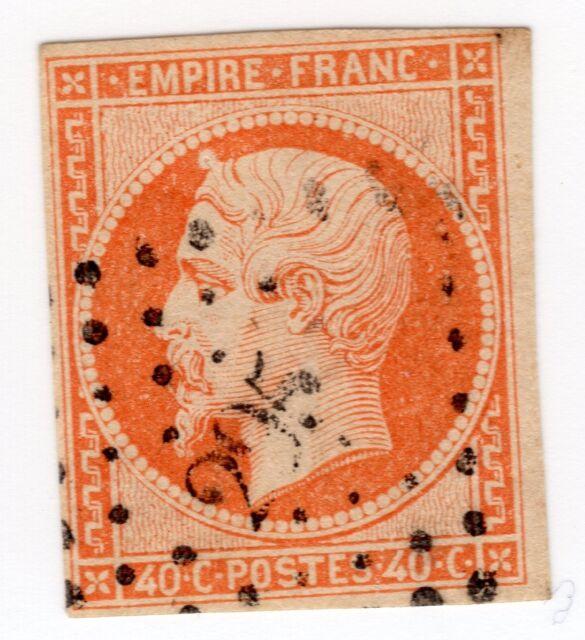 empire yt n° 16 variété timbre poste non dentelé rare stamp variety signé CALVES