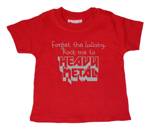 """Baby Rock Music T-Shirt /""""Forget the Lullaby rock Me to Heavy Metal/"""" Boy Girl"""