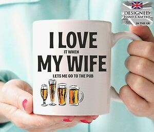 Funny Personalised Love My Wife Pub Birthday Gift Christmas Gift