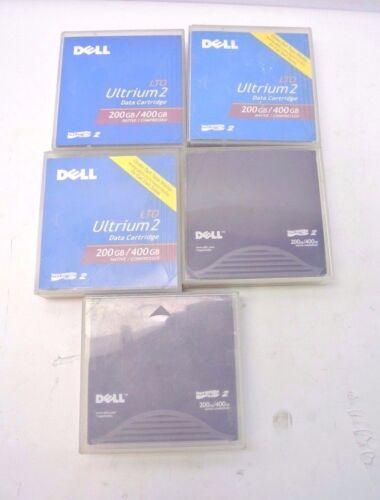 Lot 5 Dell Ultrium 2 200/400gb Tapes Data Cartridges