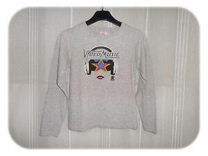 Haut-T-shirt-Gris-Motif-Devant-Japan-Rag-Taille-6-Ans-Neuf