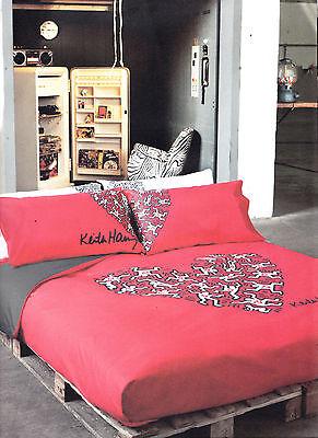 Steppdecke Steppdecke Sommer Keith Haring Einzel 1 Piazza Herz Weiss Und Rot Ebay
