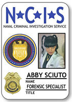 1 Name Badge Halloween Costume Abby Sciuto Forensic Agent Ncis Safety Pin Back