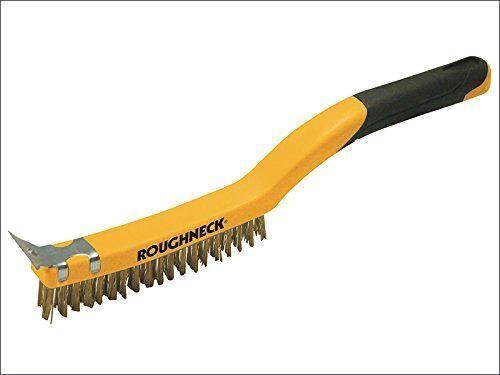 3 Rangée Gamme Roughneck Wire Brush Soft Grip avec grattoir