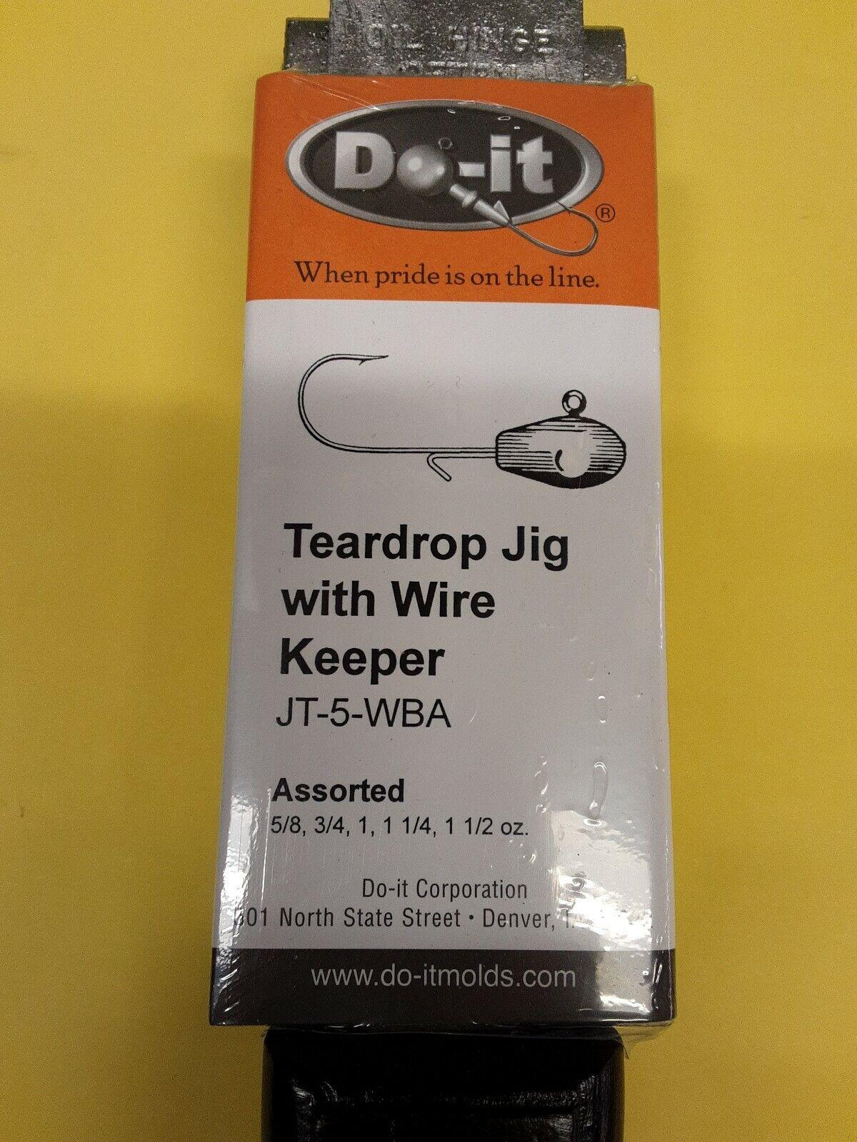 3505 LARGE  DO-IT TEARDROP JIG MOLD w WIRE  KEEPER w 10 FREE WIRES, JT-5-WBA  order online