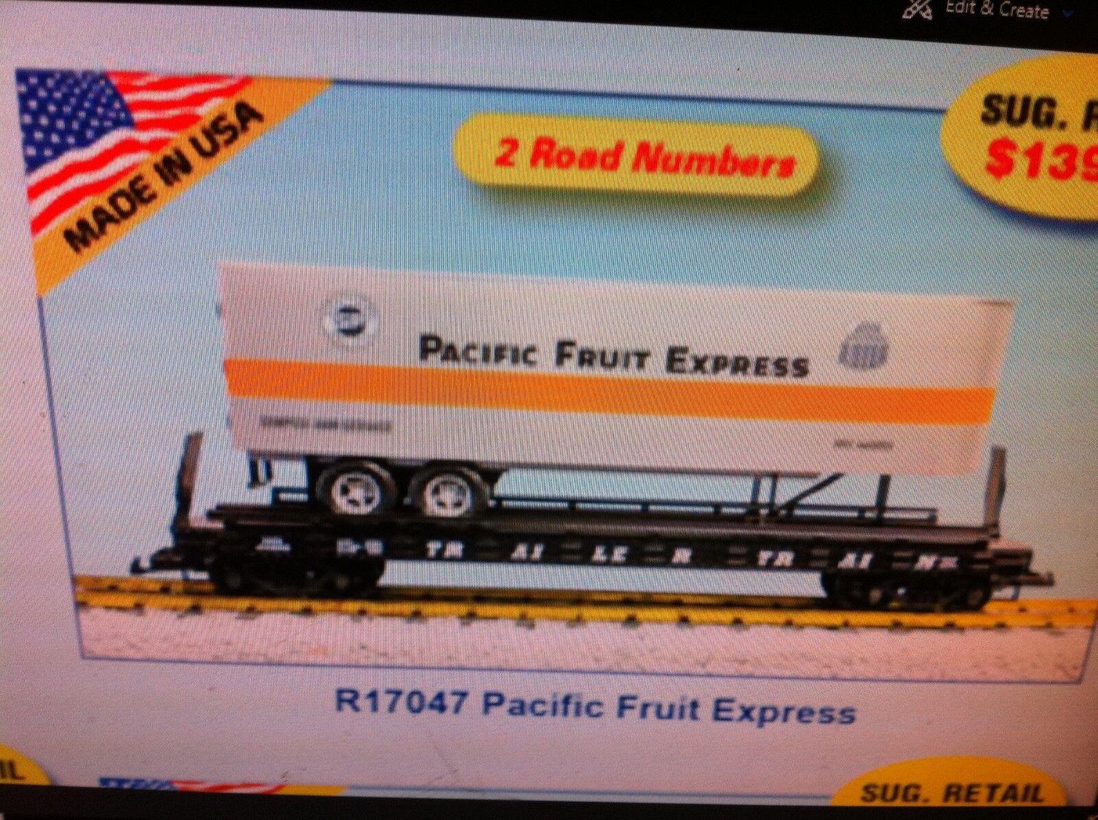 USA Trains G Scale Flat Car Car Car w Trailer R17047 Pacific Fruit Express 7a3751