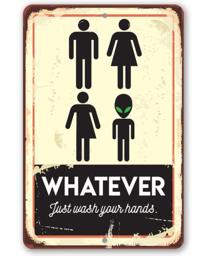 """8/"""" X 12/"""" Metal sign-Tout ce que vient de se laver les mains-Durable Métal Signe"""