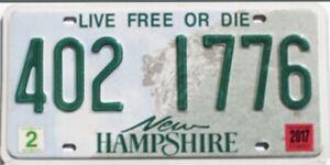 Plaque immatriculation américaine authentique USA New Hampshire 402 1776