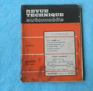 DéSintéRessé Revue Technique Automobile Peugeot 404 Diesel Année 1967