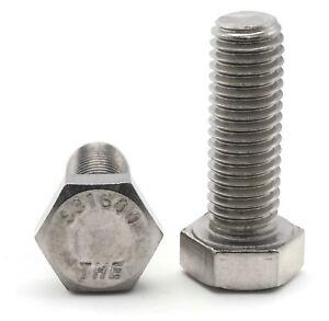 """FT Hex Cap Screw 1//4-20 x 1/"""" Zinc Steel 100 Pack Grade 2"""