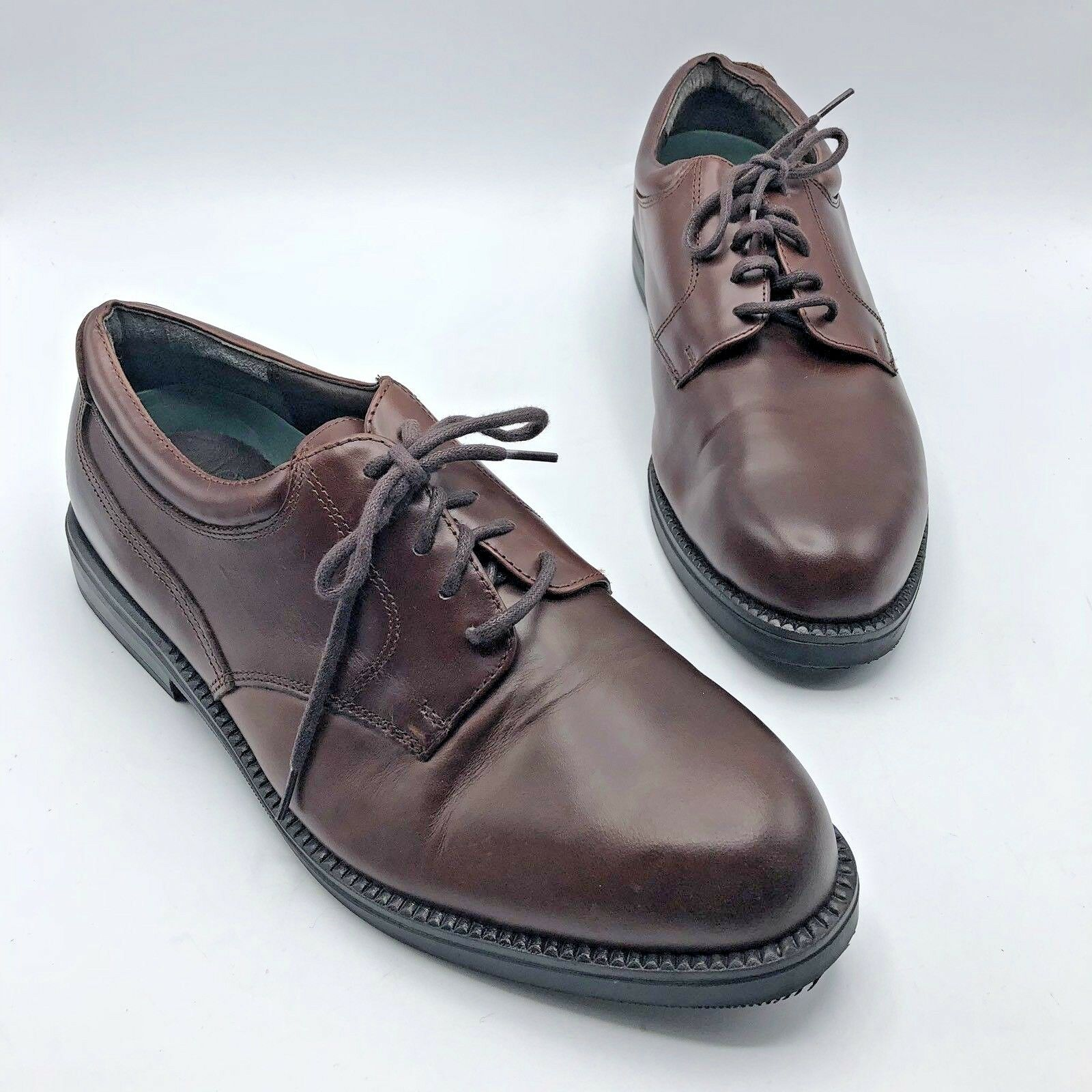 Nunn Bush 83764-51 Men Brown Leather Lace Up Oxford shoes Size 12M Pre Owned