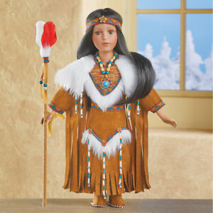 Dyani-Native-American-Indian-Collectible-Thanksgiving-Porcelain-Doll-w-COA