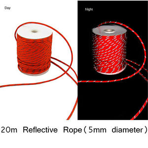 15m 2.5mm Camping Tent Awning Reflective Guyline Guide Rope Guy Line Cord GG