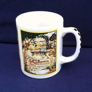 Vtg-Mary-Engelbreit-Coffee-Mug-ME-OZ-Love-Comforteth-Like-Sunshine-After-Rain