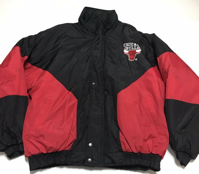 f43a85d4e7ff3d Vintage 80s 90s Chicago Bulls Big Logo Spell Out Competitor Puffe Jacket XL
