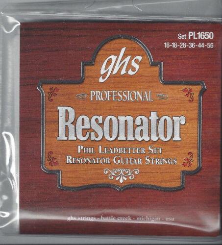 Phil Leadbeter Set GHS PROFESSIONAL Resonator Strings Set PL1650