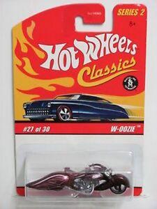 Hot-Wheels-Classics-Purple-W-OOZIE-Series-2-27-of-30-Motorcycle-NIP-NIB-2005