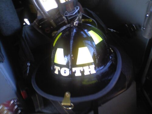 Custom REFLECTIVE Lettering Decal for Fire Rescue Helmet Equipment FREE DECAL