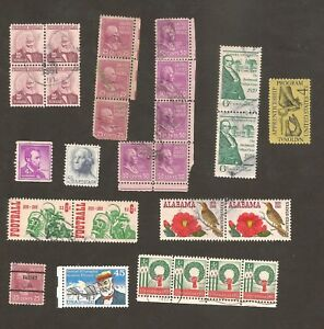 US-Lot-inc-Blocks-Strips-Pairs-some-Mint-St-USA-United-States-Postage-STAMPS