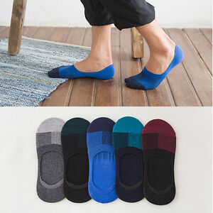 5-10-Pairs-Mens-Invisible-No-Show-Nonslip-Loafer-Boat-Ankle-Low-Cut-Cotton-Socks