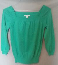 Banana Republic Green Women's Shirt Top Sweater Long Sleeve Size M Medium Med