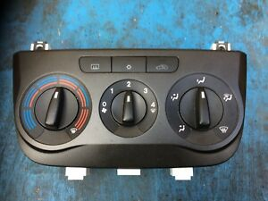 FIAT GRANDE PUNTO HEATER CONTROLS BLACK 7354489510 (AIR-CON TYPE) (2006-2010)
