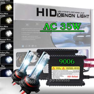 AC-35W-Xenon-HID-Conversion-Kit-Replacement-Light-Bulbs-9006-HB4-6000k-White-PL