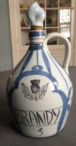 Buchan Pottery Stoneware Pottery Cognac Decanter Carafe Thistle rayures Scotland-afficher le titre d`origine BcsgnfGA-09093007-474707181