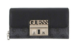 3eeb332def524 Guess Logo Luxe Large Clutch Organizer Coal, Ladies Purse Briefcase ...