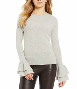 ANTONIO-MELANI-LIGHT-GREY-VERA-100-CASHMERE-SWEATER-TOP-XS-NWT