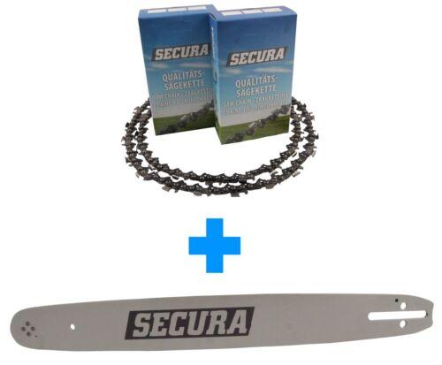 2 Sägeketten Schwert passend Ikra EKS160040cm 3//8LP 57TG 1,3mm