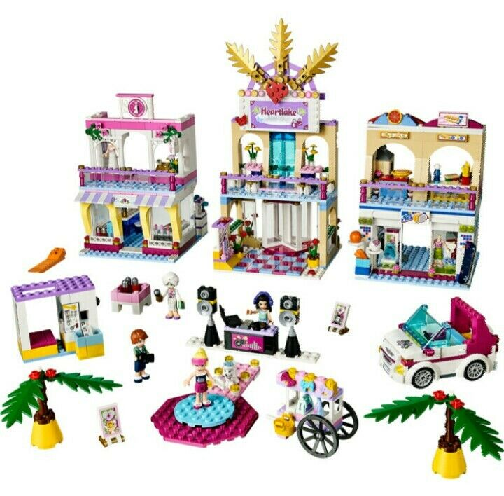 Lego Friends 41058 Heartlake Shopping Mall 100% Complete Set (No Box)