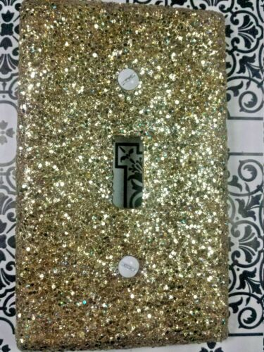 Decorative Metallic Gold Glitter ~ Bling Light Switch Covers /& All Wall Plates!
