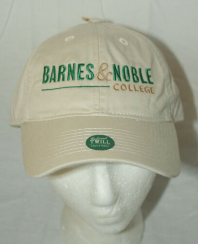 Barnes /& Noble College Bookstore Baseball Khaki Cap Hat New NOS OSFM